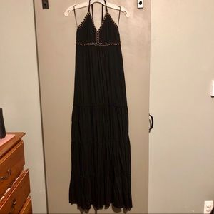 Boho tiered halter top dress